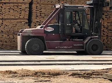 Taylor forklift with Galaxy Radial Tires